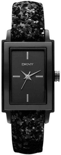 DKNY NY8712 Ladies All Black Sparkle Watch