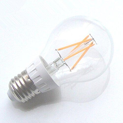 E27 4W Cob Led Filament Globe Bulb Light Lamp Warm White 3000K =40W Incandescent