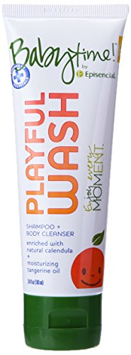Babytime By Episencial Peaceful Bubbles Organic Cleansing Bubble Bath Plus Shampoo, Travel Size, 3.4 Ounce (Pack of 12)