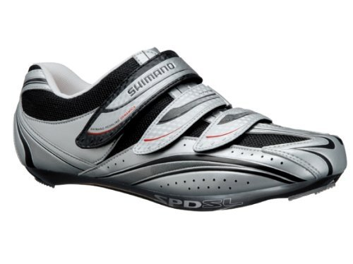 Shimano 2013 Men's Road Sport Cycling Shoes - SH-R077 (Silver - 46)