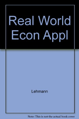 Real World Economic Applications: The Wall Street Journal Workbook