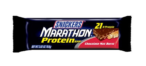 Snickers Marathon Protein Bar Chocolate Nut Burst, 2.82-Ounce Bars (Pack of 12)