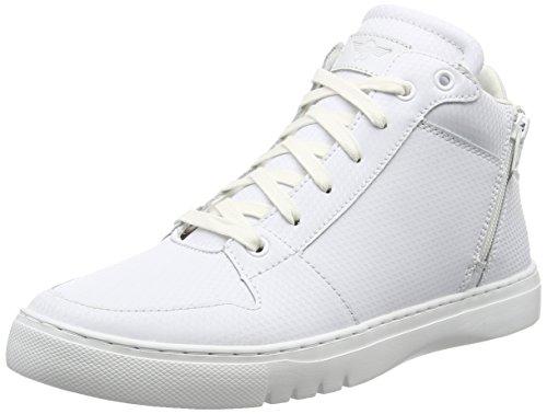 Creative Recreation Men's Adonis Mid Fashion Sneaker, White/White, 9 M US
