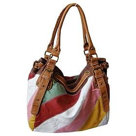 Multi-Color Trendy Striped Hobo/Handbag - Free Shipping