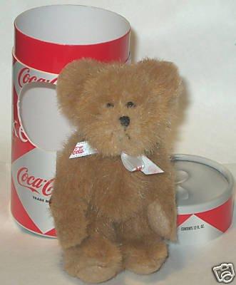 Boyds Peek-A-Bear Coca Cola Plush in Coca Cola