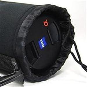 Bluecell Black Small DSLR camera Drawstring Soft Neoprene Lens Pouch Bag Cover for Sony Canon Nikon Pentax Olympus Panasonic