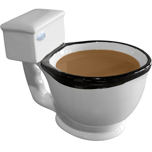 Evelots The Toilet Mug, Coffee, Tea, Beverages Cup, Humorous Gifts, White