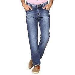 Provogue Men's Rude Slim Fit Jeans (8903522454097_103700-BL-024-32_Blue)
