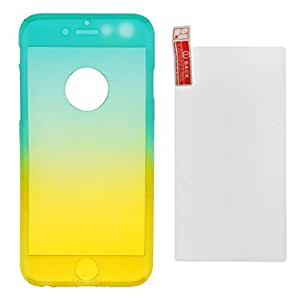 Magideal Gradient Color Phone Case for iPhone 6 /6s -Blue with Yellow