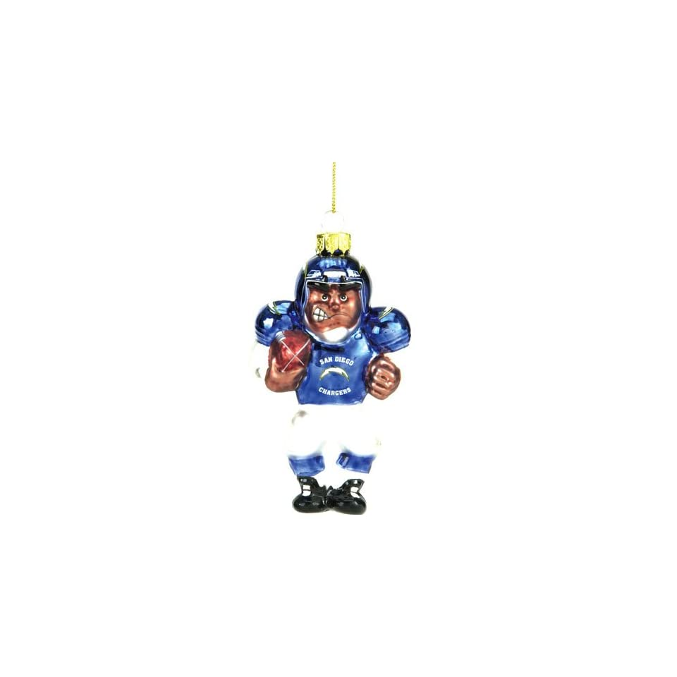 BSS   San Diego Chargers NFL Glass Player Ornament (5 African American