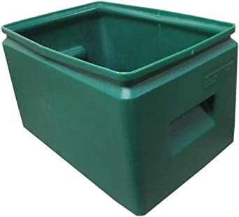 "Forte 8001221 Plastic All Purpose Bin, 14.5"" Length x 9.5"" Width x 9"" Height, Green (Case of 12)"