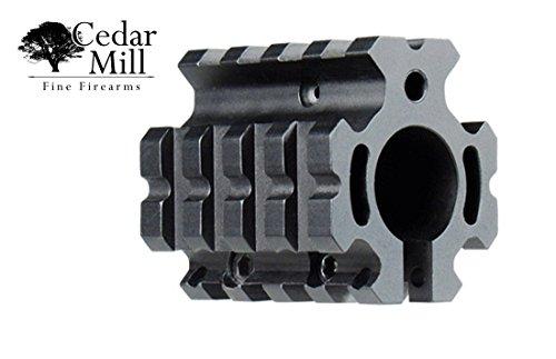AR-15 Carbine Low Profile Quad Picatinny Rail Gas Block Sniper Kit for Standard 0.75