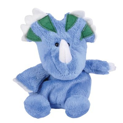 "One Triceratops Dinosaur Beanie Plush Stuffed Animal - 5"" - 1"