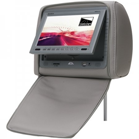 Roadview RHM-7.0G 7-Inch Headrest Monitor with DVD Player (Gray)