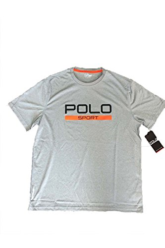 Polo Sport® Men's Performance Jersey Short Sleeve T-Shirt (Medium, Andover Heather)