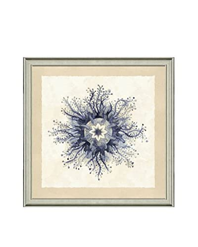 Art Source Watercolor Navy Jellyfish Print I, Multi, 23 x 23