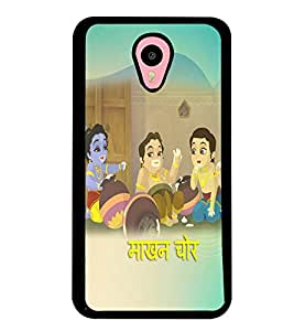 Fuson Premium Makhan Chor Metal Printed with Hard Plastic Back Case Cover for Meizu M2 Note