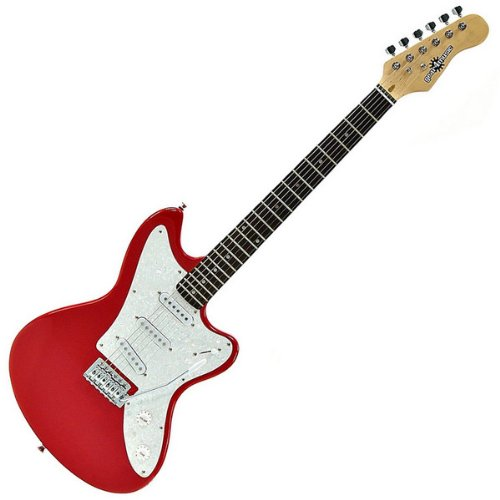 Electric-JG Guitar by Gear4music Red
