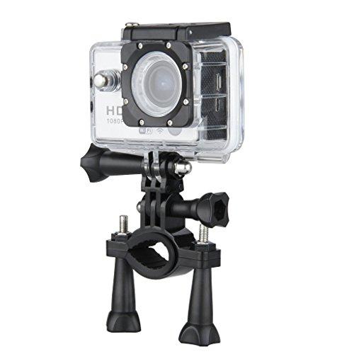 """DV Videogerät Sportkamera mit Zubehör HD 1080p Wifi Helmkamera Wasserdicht für Motorrad Skifahren 12.0MP mit 1,5 """"Zoll LCD-Display Nachtsichtfunktion Weitwinkel 170° Anti-Schütteln Silber"""