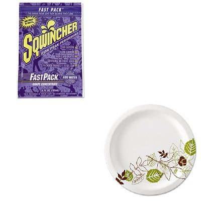 Kitdxeux9Wspksqw015302Gr - Value Kit - Sqwincher Corp Fast Pack Drink Package (Sqw015302Gr) And Dixie Pathways Mediumweight Paper Plates (Dxeux9Wspk)