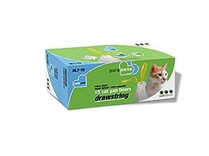 Van Ness DL715 PureNess Extra Giant Drawstring Cat Pan Liner, 15-Count
