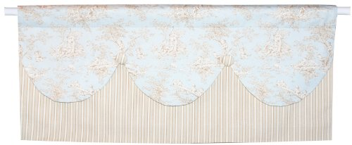 Baby Toile Green Small Window Valance