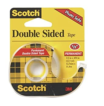 3m scotch clip 137 permanent double sided tape case of 12. Black Bedroom Furniture Sets. Home Design Ideas
