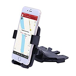 Car Mount, Patea Universal 360° Rotating CD Slot Insert In-Car Mobile Phone Cradle Holder Smartphone Car Mount for iPhone 6, 6 Plus, 5S/5 4s/4,Galaxy S6, S6 Edge, S5 and other Smartphones