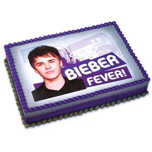 Amazon.com: Justin Bieber Icing Art Image Cake Topper: Toys & Games