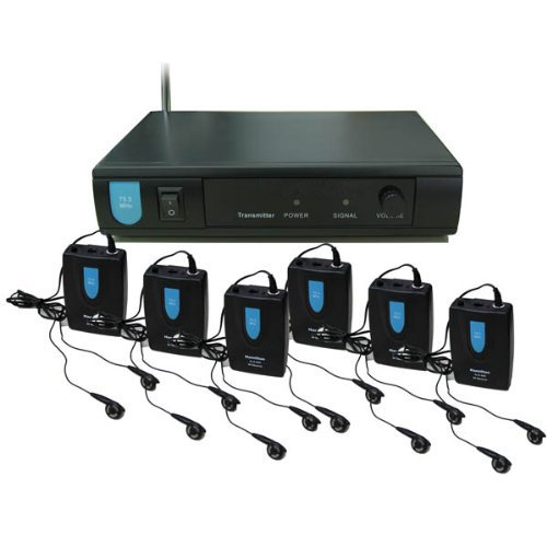Kingele Assistive Listening System With 6 Receivers