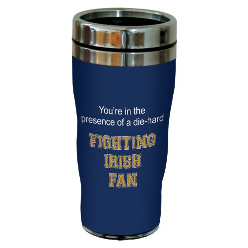 Tree-Free Greetings Sg24832 Fighting Irish College Basketball Sip 'N Go Stainless Steel Lined Travel Tumbler, 16 Ounce