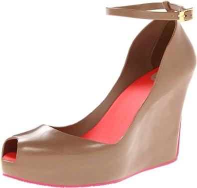 Melissa Women's Patchuli Wedge Platform Sandals Taupe 8