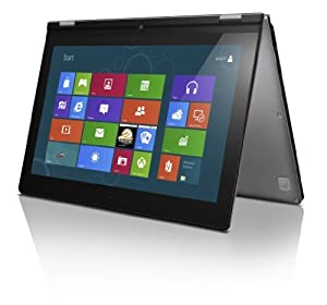Lenovo Ideapad Yoga 33.78 cm (13.3 Zoll) Convertible Ultrabook (Intel Core i3 3217U 1,8GHz, 4GB RAM, 128GB SSD, Intel HD 4000, Touchscreen, Win 8) silber