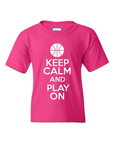 keep-calm-and-play-on-basketball-statement-novelty-youth-kids-t-shirt-tee-x-large-hot-pink