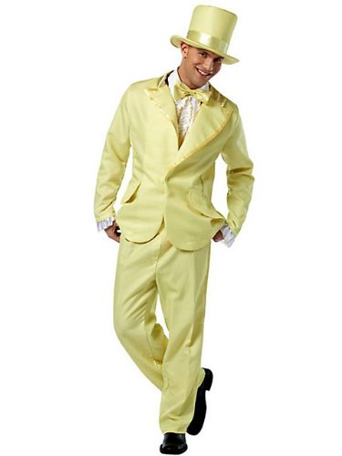 Adult Men's Funky Yellow Tuxedo Costume