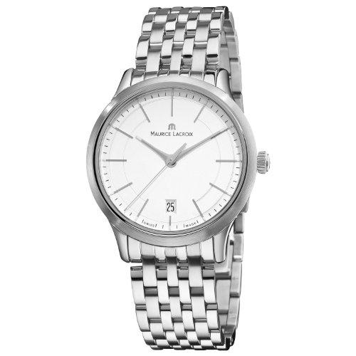 Maurice Lacroix Hombre lc1117-ss002130Les classiqu Esfera Plata Acero Inoxidable Reloj