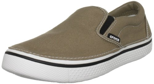 Crocs Unisex-Adult Hover Slip On Fashion Trainer Khaki/White 11291-289-184 7 UK
