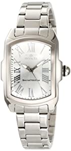 Invicta Womens 15155 Lupah Silver Dial Stainless Steel Watch
