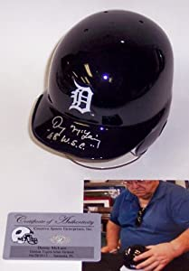 Denny McLain Autographed Hand Signed Detroit Tigers Mini Batting Baseball Helmet -... by Creative+Sports