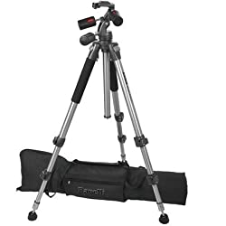 Ravelli APGL3 Professional 66-inch Three Axis Head Camera Video Photo Tripod with Dual Quick Release Plates and Carry Bag