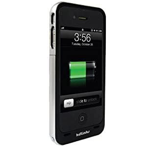 $27.99 kdLinks Supreme Slim Light Weight Power Case & Extended Rechargeable Battery for iPhone 4/4S