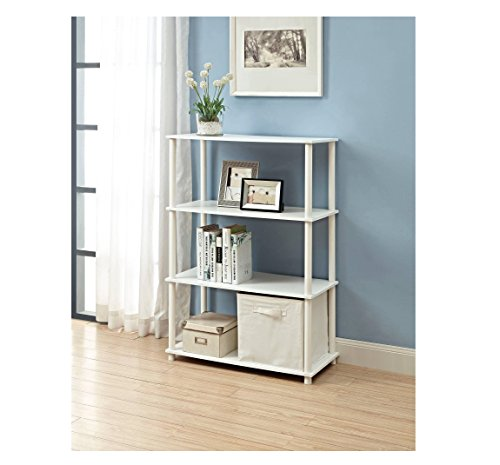 No Tools 6-Cube Storage Shelf, White. Easy To Assemble and Great to Hold Housing Cubes, Books, Decorative Items Displays and More. Suitable For Any Room Of Your Home To Organize Accessories And Supplies or Used as a Bookshelf. (White Storage Shelves compare prices)