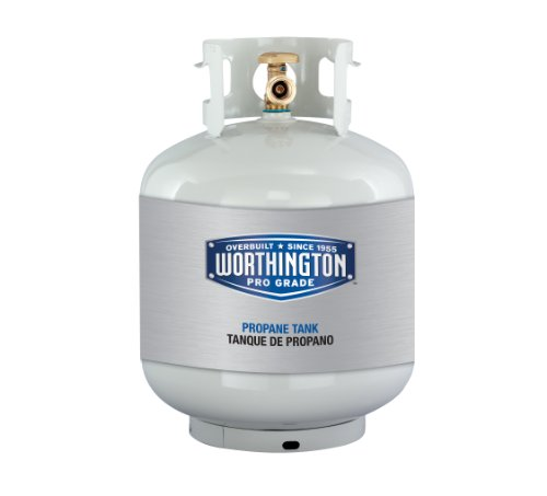 Worthington 303955 20-Pound Steel Propane Cylinder With Type 1 With Overflow Prevention Device Valve