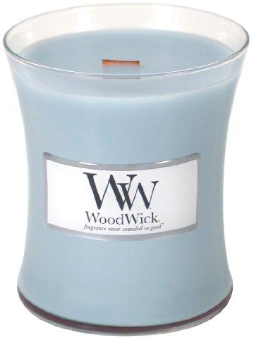 Woodwick Candle Cotton Flower Medium Jar