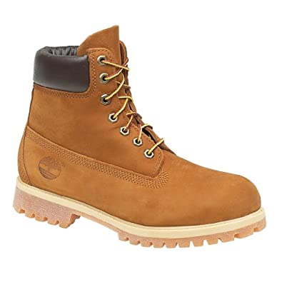 Timberland 72066 Leather Lace-Up Boot / Mens Boots (6.5 US) (Rust/Nubuck)