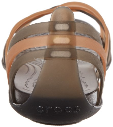 crocs Women's Huarache Flat, Bronze/Espresso, 7 M US