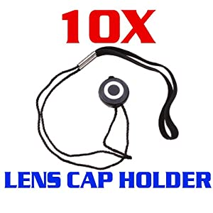 CowboyStudio 10 X Universal Lens Cap Keeper Holder with Elastic Band for All DSLR Camera Canon, Nikon, Olympus, Sony Camera