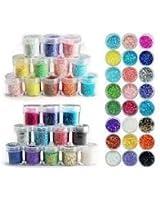 Lot 24. couleur paillette chips glitter deco ongles manucure gel acrylique de Boolavard® TM