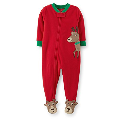 Carter'S Little Boys Microfleece Sleeper Pjs (2T, Reindeer) front-144810