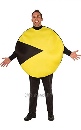 Mens Pacman Tunic Costume. Printed on both sides. Standard Size.